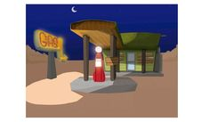 Ilustración Gas Station 1950 Lighting, Home Decor, Parking Lot, Homemade Home Decor, Light Fixtures, Lights, Interior Design, Lightning, Home Interiors