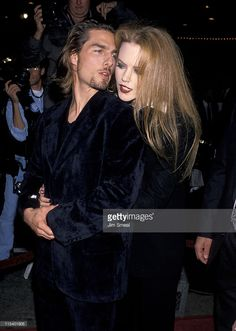 "Nicole Kidman and Tom Cruise during ""Interview With A Vampire"" Los Angeles Premiere at Manns Village Theater in Westwood, California, United States. Get premium, high resolution news photos at Getty Images Katie Holmes, Nicole Kidman, Lestat And Louis, Cruise Specials, Actor Studio, Famous Couples, Top Gun, Hollywood Actor, Tom Cruise"