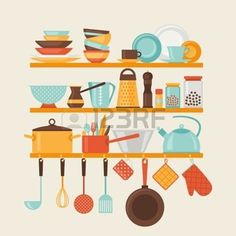 Kitchen Stock Vector Illustration And Royalty Free Kitchen Clipart