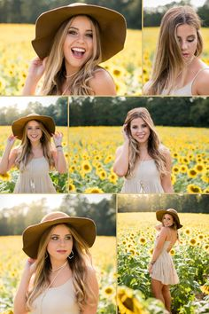 Sunflower field senior picture poses, Charlotte, NC senior portrait photographer Practical knowledge - Anybody attempting Vintage Senior Pictures, Field Senior Pictures, Summer Senior Pictures, Senior Photos Girls, Senior Girls, Girl Photos, Girls Softball, Ideas For Senior Pictures, Fall Senior Pics