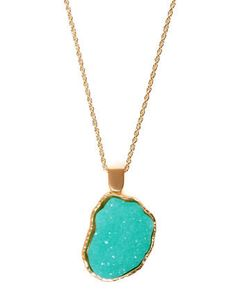Mint crystal necklace <3