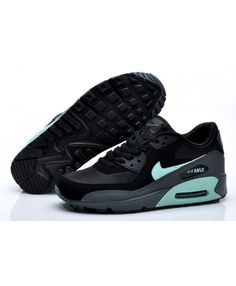 f236ca61e122 Nike Air Max 90 Essential Man Black Mint Candy Dark Grey Sneakers Sale UK