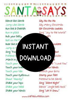 Christmas Games Online, Christmas Bingo Game, Christmas Party Games For Kids, Christmas Scavenger Hunt, Xmas Games, Christmas Activities For Kids, Kids Party Games, Christmas Printables, Games To Play With Kids