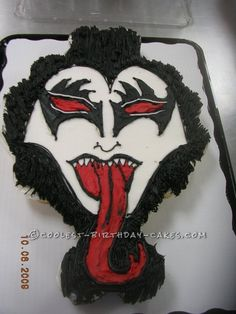 Coolest Rock Star Kiss Cake... This website is the Pinterest of birthday cake ideas
