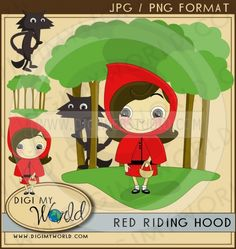 Red Riding Hood 1 - Non-Exclusive Clip Art