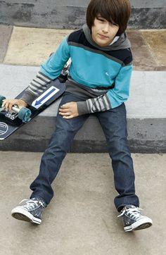 Quiksilver 'Chimney' Hoodie & Straight Leg Jeans (Big Boys)