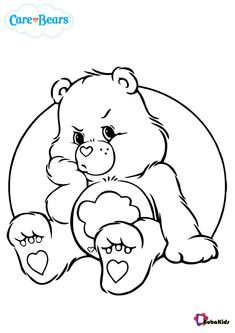 Care Bears Grumpy bear coloring pages - BubaKids.com