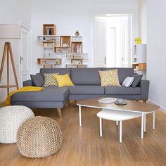 Scandinavian interior natural style