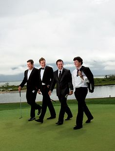 Lee Westwood, Ian Poulter, Graeme McDowell and Rory McIlroy