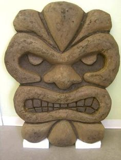 DCsurfaces Mayan tiki mask acid stained by dcsurfaces, via Flickr