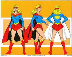 1982 - Supergirl Style Guides by Jose Luis Garcia Lopez