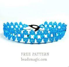 Free pattern for bracelet Blue Wave