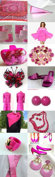 Shocking Pink! - A Vintage Vogue Team Treasury by Cherie on Etsy--Pinned with TreasuryPin.com