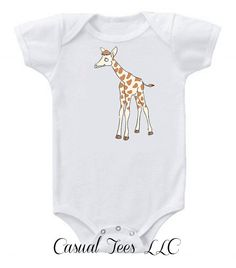 Giraffe Baby Bodysuit for the Baby or Toddler Tee by CasualTeeCo, $14.00