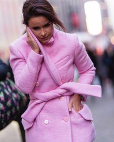 { pink coat }