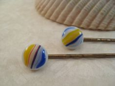 Decorative Glass Bobby Pins  Multi Colored by GlassArtByMargot, $8.00