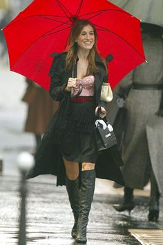 """Carrie Bradshaw. There are no """"lows"""". My fashion icon. I dream of these outfits and shoes... Sigh."""
