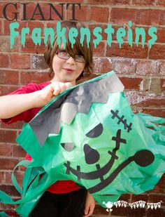 GIANT FRANKENSTEIN'S MONSTERS A fun craft activity and fab Halloween decoration or party favour for kids.: