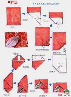Four Envelopes Origami Practices
