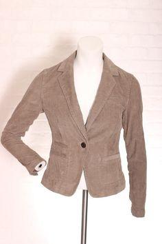 4089951371da1 BANANA REPUBLIC Green Corduroy Womens Button Jacket Size PXXS work Church  Office  fashion  clothing  shoes  accessories  womensclothing   coatsjacketsvests ...
