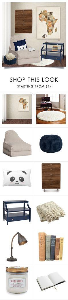 """Study Corner"" by puggat ❤ liked on Polyvore featuring interior, interiors, interior design, home, home decor, interior decorating, Trademark Fine Art, PBteen, Saro and Copeland Furniture"