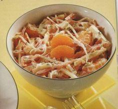 Preisalade met Leidse kaas yoghurt en appel