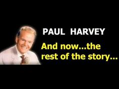 If you didnt read it in his voice who are you? Paul Harvey, Tough Times, Childhood Memories, The Voice, Lol, Education, History, Reading, Jasmine