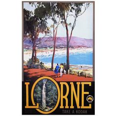 Original Vintage Poster Lorne Australia by James Northfield, 1935 A4 Poster, Retro Poster, Kunst Poster, Poster Prints, Art Prints, Canvas Prints, Poster Wall, Art And Illustration, Illustrations