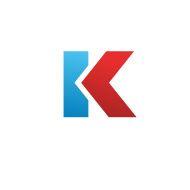 Letter K emblem icon design template elements vector art illustration