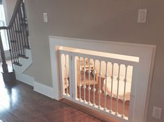 New dog kennel under the stairs is finally complete! I think it turned out pretty well.