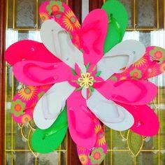Decorate Flip Flop Craft Ideas | Flip Flop Wreath