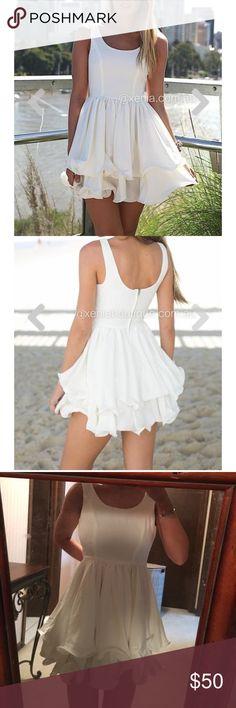 xenia dress white mint