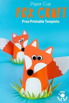 CUTE PAPER CUP FOX CRAFT FOR KIDS. Fox crafts are so fun and this paper cup craft is easy to make with the free printable fox craft template. Such a fun woodland animal craft. Animal Crafts For Kids, Craft Projects For Kids, Crafts For Kids To Make, Fun Activities For Kids, Craft Activities, Preschool Crafts, Kids Crafts, Art Projects, Craft Ideas