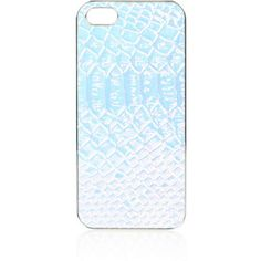 TOPSHOP Metallic Snake iPhone 5 Case ($15) ❤ liked on Polyvore featuring accessories, tech accessories, silver and topshop