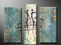 Abstract Wall Canvas Art Sets Painting for Home Decoration 100% Hand Painted Oil Painting Modern Art Large Canvas Wall Art Stretched and Ready to Hang Free Shipping 3 Piece Canvas Art Canvasart,http://www.amazon.com/dp/B009Q35EG2/ref=cm_sw_r_pi_dp_6LT7sb0HN454TJAZ