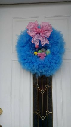 Check out this item in my Etsy shop https://www.etsy.com/listing/270918440/easter-wreath-spring-wreath-bunny-wreath