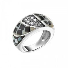 Platinaired 925 Sterling Silver ring for women by KANTILAKI