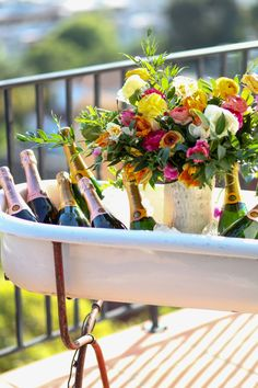 Bathtubs of champagne #sayitwithclicquot