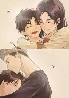 I love the thought of Jean being an older brother to Eren, and even though they're rivals and are always fighting, I'd like to think that he'd be there for Eren when he's missing his mom, or just when he needs someone