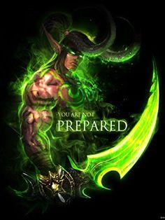 World of Warcraft Character Illidan Stormrage Fan Art 24x32 Poster Print…
