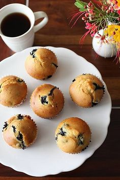 Eggless blueberry muffins - yummy! made today with choc chips instead of blueberries for breakfast tomorrow.