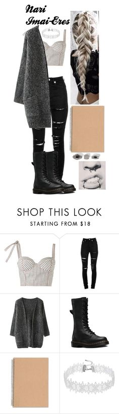 """Nari Imai-Eres (OC)"" by lord-nightshade on Polyvore featuring Rosie Assoulin, Yves Saint Laurent and Dr. Martens"