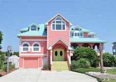Six hours due East in the state's Outer Banks vacation region, this 4,100-square-foot seven-bedroom looks like something out of a Dr. Suess book.