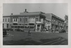 John P. Wymer's photograph of the building on the corner of 11th and U Streets, NW. Photograph was taken on October 4, 1949.