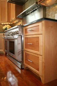 Two Tone Bi Color Stain Kitchen Cabinets Kitchen