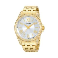 Pulsar Women's Gold Tone Stainless Steel Watch
