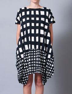 Gingham check dress- Tsumori Chisato