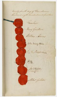 Signatories to the Treaty of Ghent.