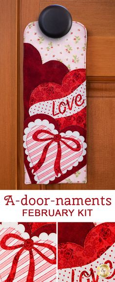 Welcome family and friends into your home with the cute and easy to make A-door-naments! This series is a Shabby Fabrics exclusive! Sewing Projects, Diy Projects, Little Blessings, Shabby Fabrics, Machine Embroidery Projects, Leftover Fabric, Heart Ornament, Quilted Wall Hangings, Cozies