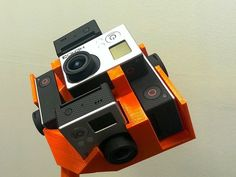 GoPro Hero 3 Black Mount for Multiple Cameras Inc. NEW 6x Cam Spherical Mount by dtLAB - Thingiverse